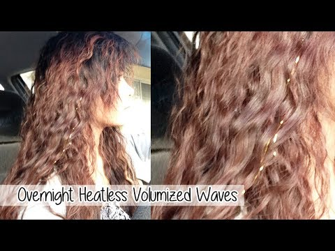 Heatless Voluminous Waves l Easy Overnight Beachy Waves