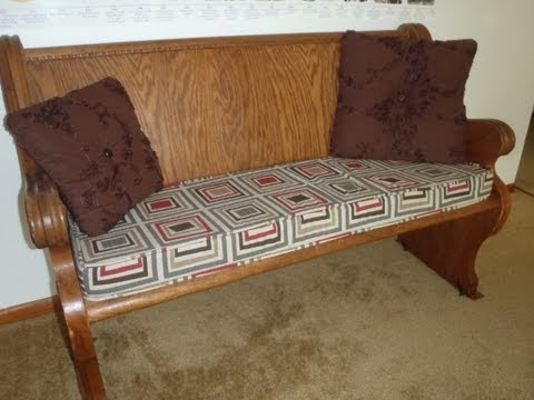 Bench Cushion with Piping