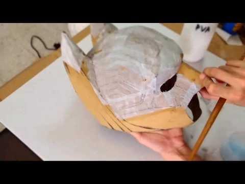 DIY Batman Cowl Part 2 - Cardboard & Body Work How to