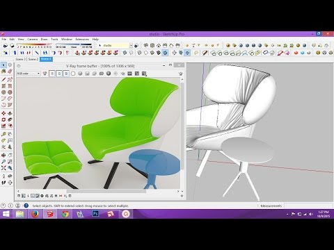 Creating cloth material in vray for sketchup .