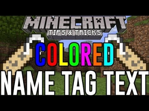 Minecraft PS4-Colored  name tag guide. PS3, XBOX 360, XBOX 1
