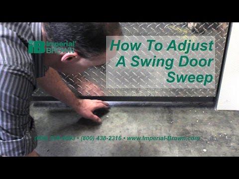 How to Adjust the Door Sweep on a Walk-in Cooler Swing Door