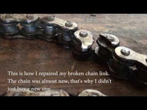 Garage #1 - How to fix broken chain link on motocross bike