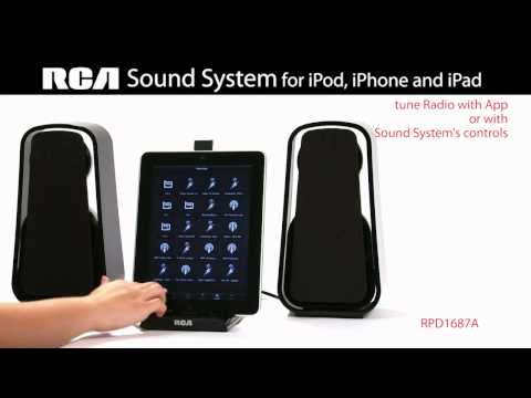 RPD1687A Sound System for iPod, iPhone and iPad