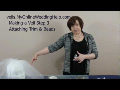 Attaching Beading & Trim to Your Veil: Step 3 in How to Make Bridal Veils Series