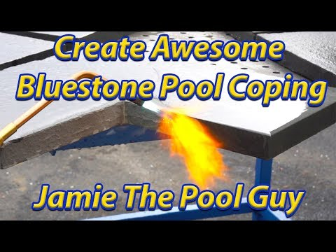 Create Awesome Bluestone Pool Coping - How to Thermal Bluestone.