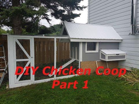 DIY Chicken Coop Step By Step Part 1