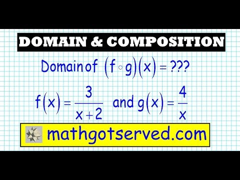 finding domain of composite functions college algebra 2 precalculus