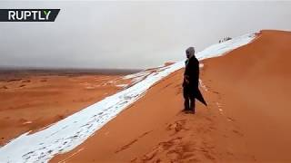 Snow in Sahara: See what winter in the desert looks like