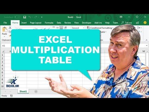 Trueling Excel #6 - Multiplication Table