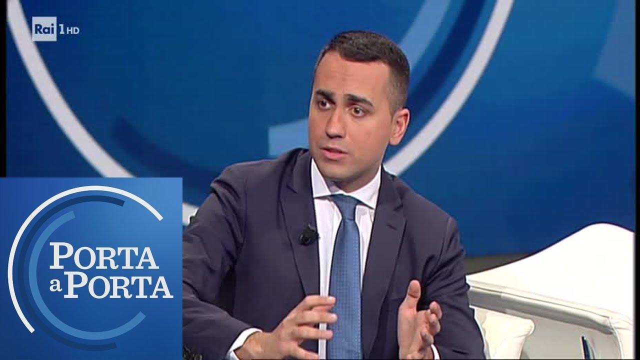 """Di Maio: """"Lega vuole voto per buttare giù il Governo"""" - Porta a Porta 23/05/2019"""