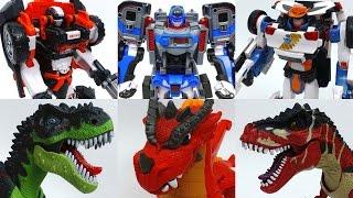3 Transforming Robots Vs. Dinosaurs and Dragon~! Tobot Athlon Season 3 Transforming Robots
