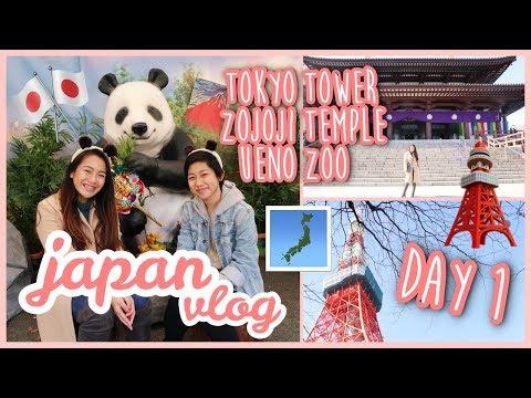 JAPAN VLOG DAY 1 - TOKYO TOWER, ZOJOJI TEMPLE & UENO ZOO | Philippines