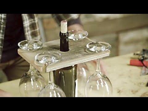 DIY Barnwood Wine Glass Holder - DIY Network