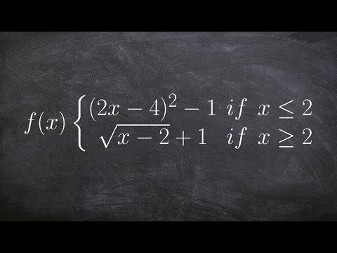 Graphing a Piecewise Function Radical and Quadratic With Transformations