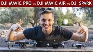 DJI Mavic Air vs. DJI Mavic Pro vs. DJI Spark | Drone Comparison