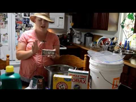 How to Make Homemade Liquid Laundry Soap Video Tutorial