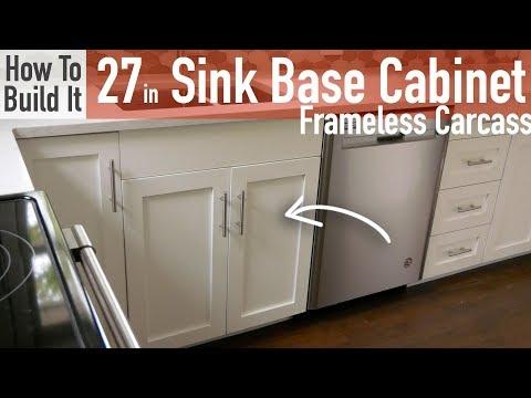 DIY 27in Sink Base Cabinet Carcass (Frameless)
