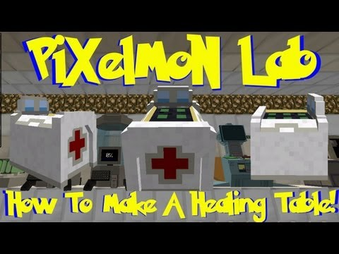 Pixelmon Lab: How To Make A Healing Table! (Minecraft Pokemon Mod)