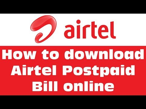 How to online download airtel Postpaid bill