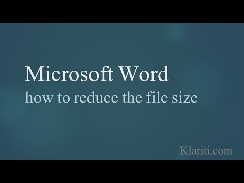 MS Word - How to reduce the File Size by 60%