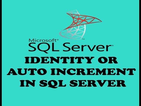 IDENTITY OR AUTO INCREMENT IN SQL SERVER (URDU / HINDI)