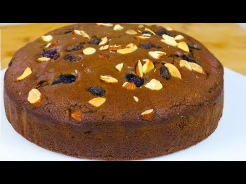 PRESSURE COOER Eggless Chocolate cake | DryFruit Cake Recipe Without Egg Without Oven