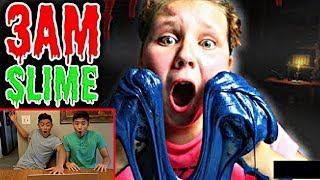 REACTING TO 3AM FLUFFY SLIME CHALLENGES!! *EXPOSING*