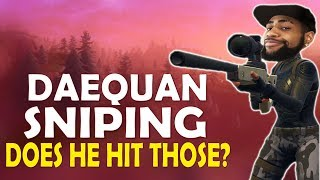 DAEQUAN SNIPING FINALLY | DOES HE HIT THOSE? | HIGH KILL FUNNY GAME - (Fortnite Battle Royale)