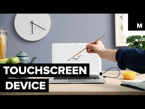 Turning any laptop into touchscreen