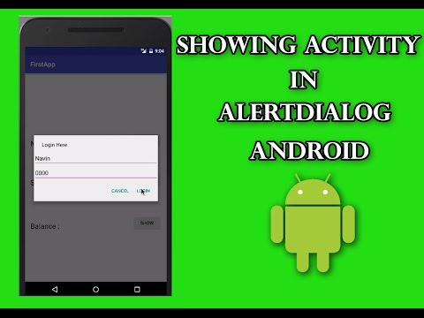 Custom AlertDialog-showing Activity in AlertDialog | Android Tutorial for Beginners