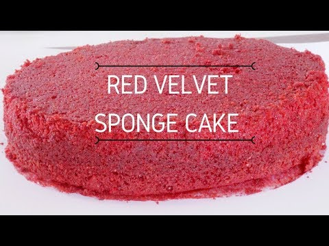 Red Velvet Cake - Moist Red Velvet Sponge Cake - One Bowl Red Velvet Cake
