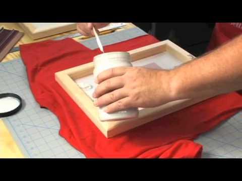 Screen Printing Stencil Method