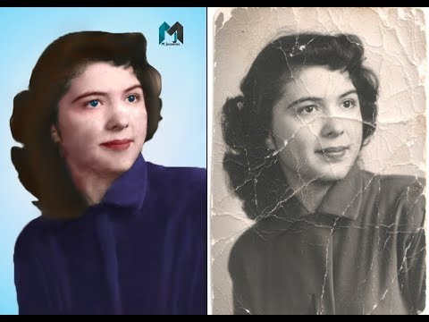 Repair & color  Old Photo  _ Photoshop Tutorial