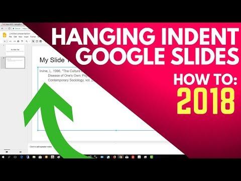 Hanging Indent Google Slides - How to format  for a citation - MLA