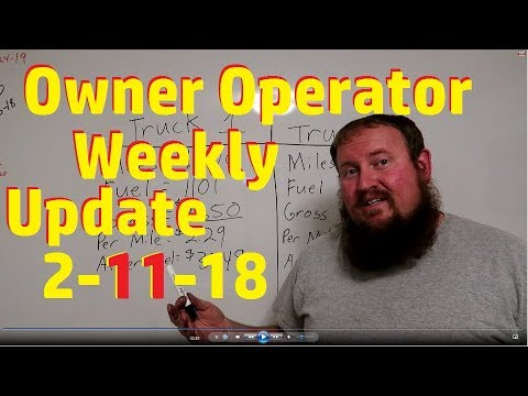 HOW MUCH DOES AN OWNER OPERATOR MAKE!! Weekly update 2-11-2018