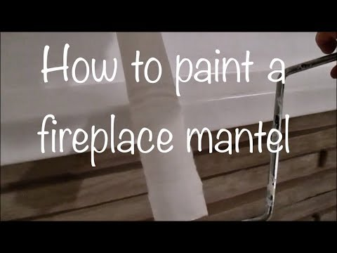 Painting a fireplace mantle