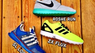 adidas flux vs roshe run