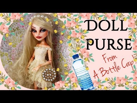 DIY Doll Handbag Tutorial, How To Make Purse for Dolls Crafts / Handmade Barbie, Monster High, Bratz