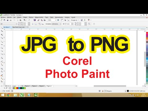 JPG to PNG Corel PhotoPaint ( Easy )