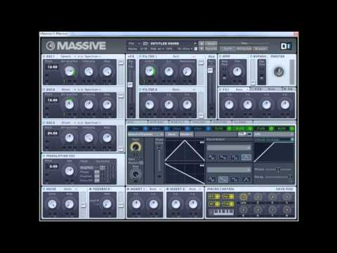 NI Massive - Dubstep Basses Sound Design - Part 1/2