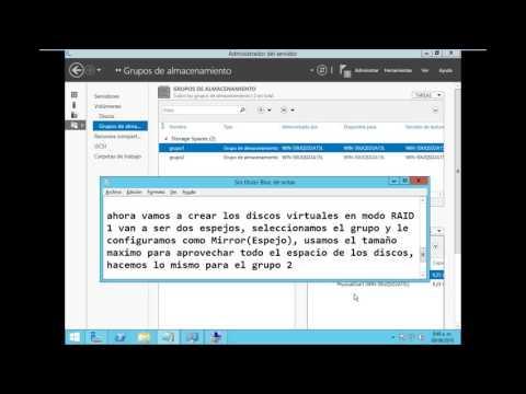 Raid 10 1+0 en Windows Server 2012 R2