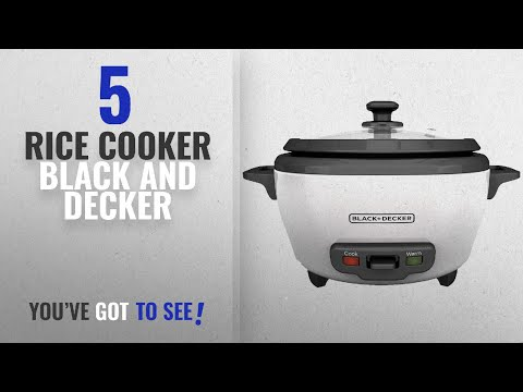 Best Rice Cooker Black And Decker [2018]: BLACK+DECKER RC506 6-Cup Cooked/3-Cup Uncooked Rice