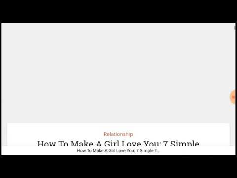 How To Make A Girl Love you: My Simple 7 Techniques.