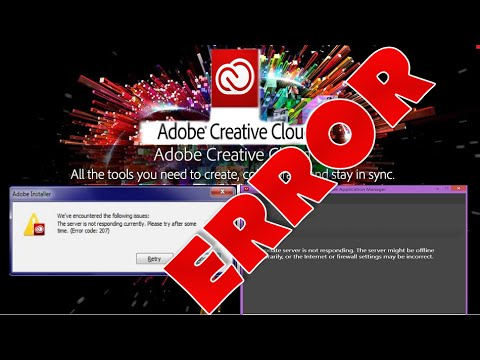 How to fix Adobe Creative Cloud 207 / update Error on Windows