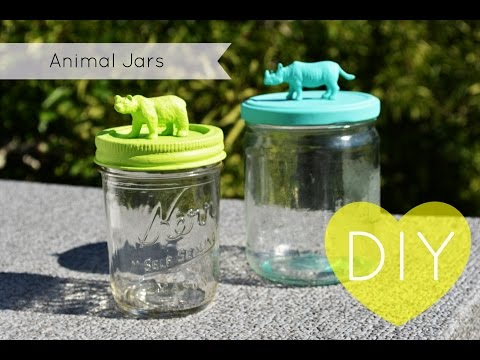 DIY: Animal Mason Jars