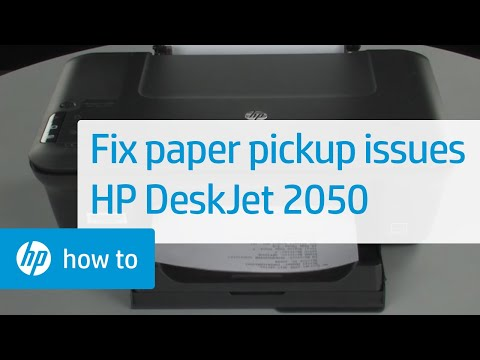 Fixing Paper Pick-Up Issues - HP Deskjet 2050 All-in-One Printer