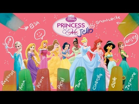 Disney princess jello popsicle ice cream
