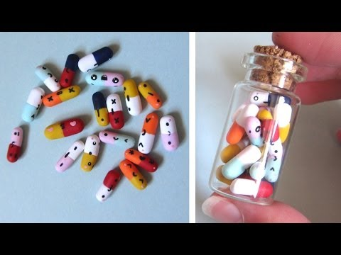 Kawaii Pills in a Bottle: Doctors' Day, Polymer Clay Tutorial.