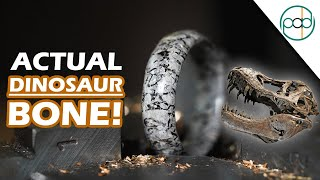 Making a Dinosaur Fossil Ring from REAL Dinosaur Bone!